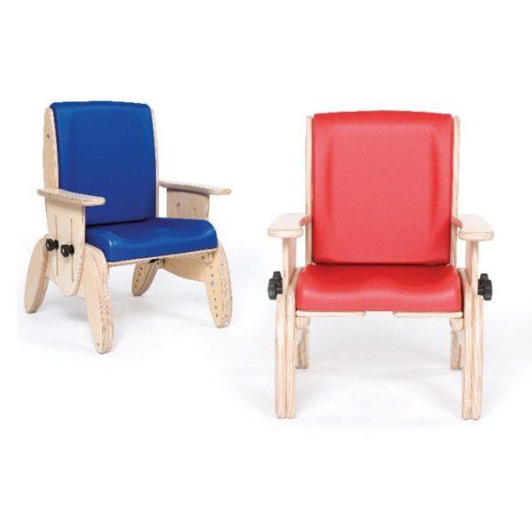 Juni's seat and backrest both provide unique contouring